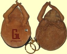 Cane Toad coin purses with corporate logo embossed