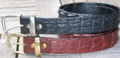 crocodile leather hornback belt