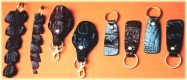 crocodile leather key fobs, keychains and key tags