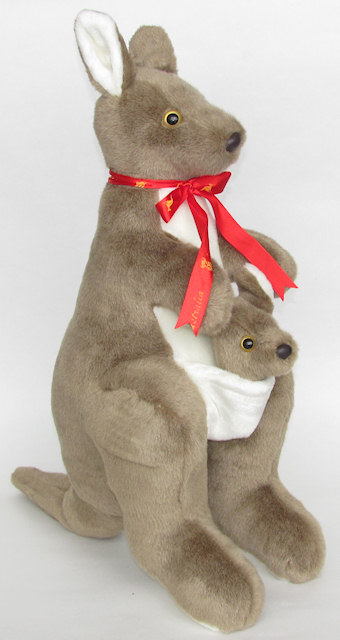 Grey Kangaroo Giant Soft Toy Australian Kangaroo Toys