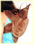 Kangaroo toy backpack