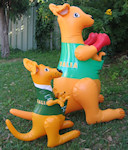 Blow up kangaroo toy