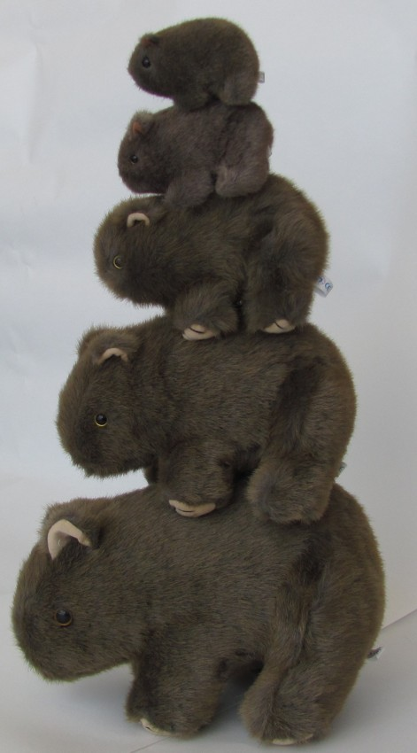 Standing wombat soft toys
