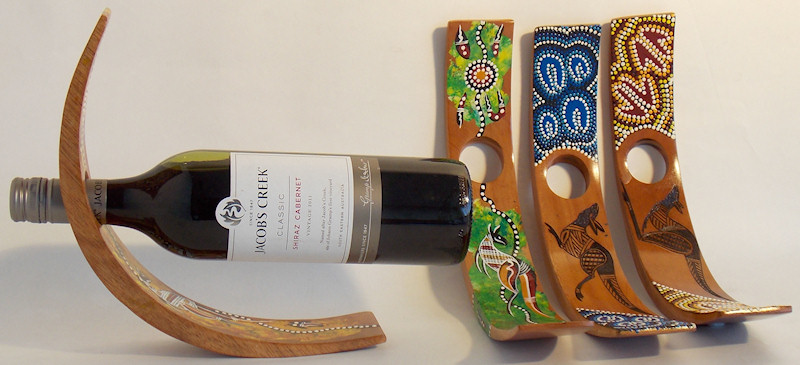 Decorative Wine Bottle Holders Adorable Unique Wine Bottle Holders With Aboriginal Decoration Review