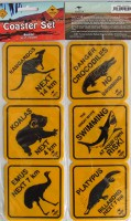 Road sign coasters