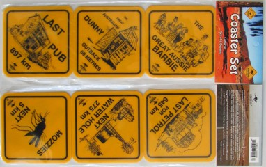 Road sign coasters - Australian icons