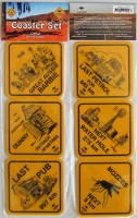 Fun road sign coasters