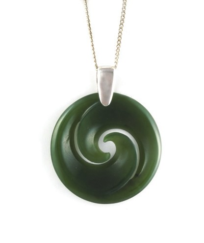 jade jewel double jewelry of the pendant file koru lotus jewelstore maori