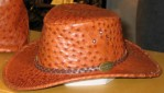 Ostrich leather hat
